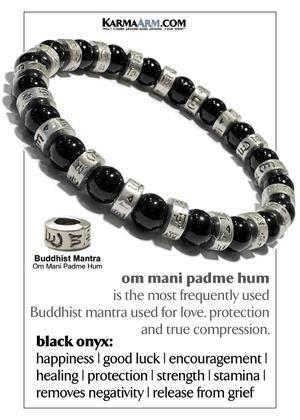 BLACK PRECIOSA ELEPHANT Chakra Charm Stretch Bracelet