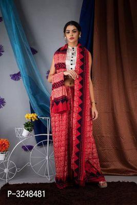 New Exclusive Women HandMade Printed Cotton Sari Mulmul Saree With Blouse Piece