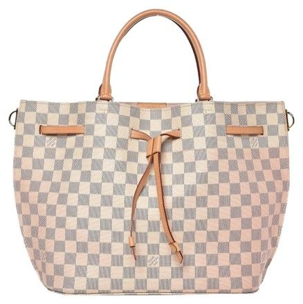 34d229c5cad2 Louis Vuitton Girolata Damier Azur Rose Ballerine White Coated Canvas Shoulder  Bag. Get one of the hottest styles of the season! The Louis Vuitton Girolata  ...