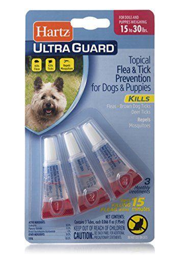 Hartz Ultraguard Flea Tick Drops For Dogs 16 30 Lbs 3 Monthly Treatments 0 04 Oz Flea And Tick Fleas Free Dog Food