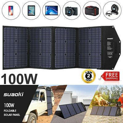 Advertisement 100w Foldable Solar Panel Monocrystalline Connecter Battery Charger For Camping In 2020 Solar Panel Battery Flexible Solar Panels Solar Panels