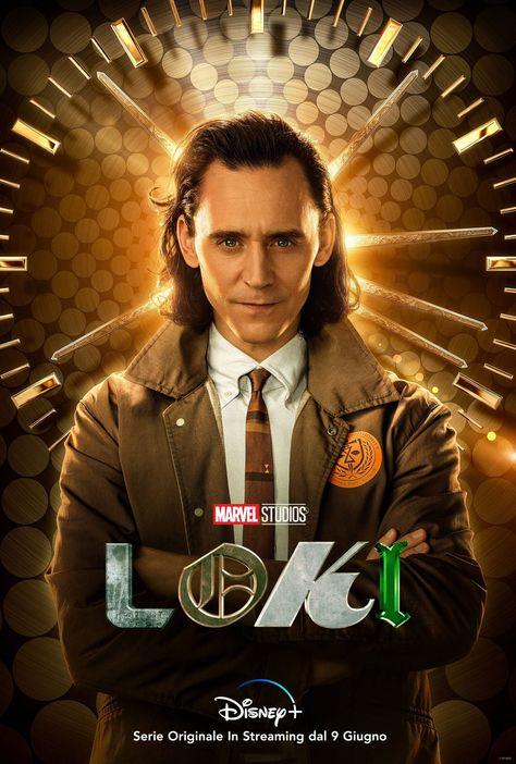 Loki 2021 Marvel TV series Tom Hiddleston character poster quality print