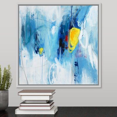 Orren Ellis Yester Year Painting On Canvas Format White Floater Frame Size 17 7 H X 17 7 W X 1 75 D Painting Canvas Artwork