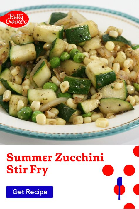 Our Summer Zucchini Stir Fry is an incredible vegetarian dish idea for any day of the week. Pin today for a delicious seasonal side.