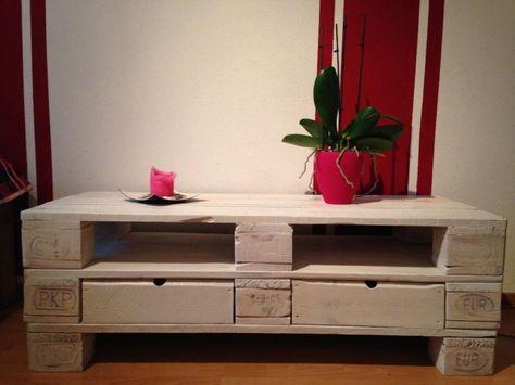 Sideboard Kommode Tv Hifi Tische Euro Palette Möbel Weiß