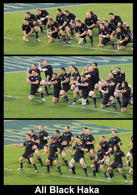 I LOVE teams that do the haka before a game. All Black Haka by Geoff Trotter,