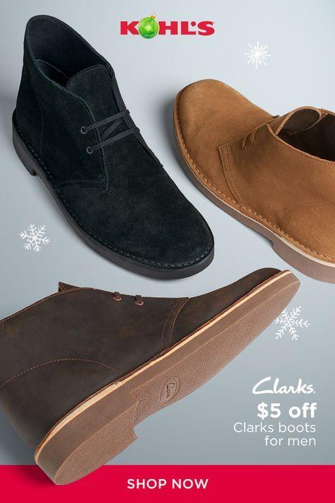 Clarks boots, Chukka boots men