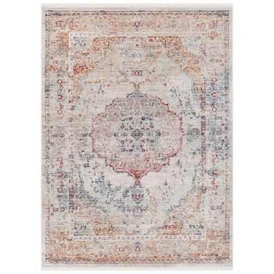 Safavieh Alva Rug 10 Ft X 14 Ft Gray Light Blue Red At Lowes Com In 2020 Light Blue Area Rug Red Rugs Blue Area Rugs
