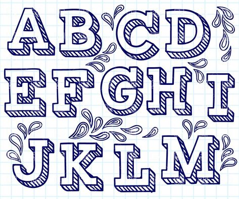 19 Cool Easy Fonts To Draw By Hand Alphabet Hand Lettering
