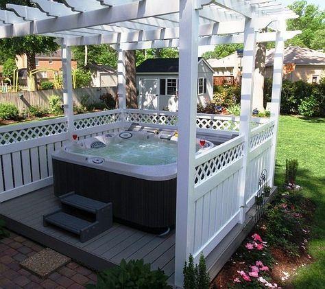 Den-Garten-mit-einem-coolen-Whirlpool-gestalten-- Whirlpool - outdoor whirlpool garten spass bilder