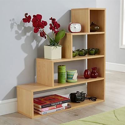 4 Tier Understairs Step Cube Shelf Shoe Storage Unit Bookcase Display Beech In 2020 Shelves Cube Shelves Shoe Storage Under Stairs
