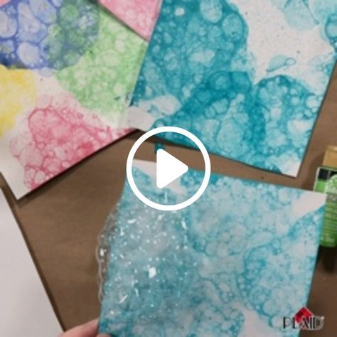 Create super fun bubble art with your kids. Just need paint, dish soap and water!