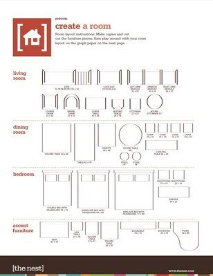 printable furniture templates 1 4 inch scale Free Graph Paper - reservation forms in pdf