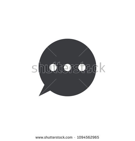 Vector message icon  Circle speech bubble  Element for