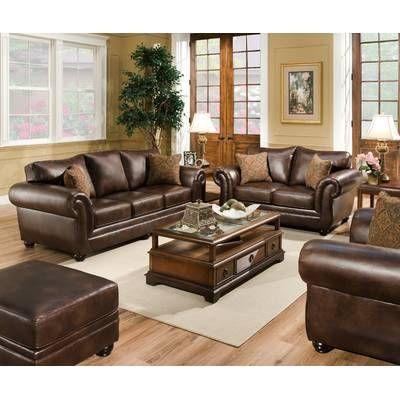 Orren Ellis Stapp Modern Configurable Living Room Set Wayfair Leather Living Room Set Living Room Leather Brown Living Room Decor