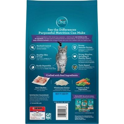 Purina One Hairball Formula Adult Premium Dry Cat Food 3 5lb