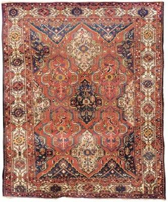 Bakhtiari Carpet West Persia Circa 1900 Localised Areas Of Wear Good Condition 13ft 2in X 10ft 6in 400cm X Tribal Carpets Iranian Rugs Rugs On Carpet