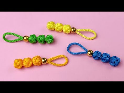 Super Easy Paracord Lanyard Keychain   How to make a Paracord Key Chain Handmade DIY Tutorial #11 - YouTube