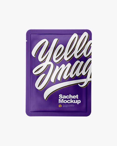 Matte Sachet Mockup In Sachet Mockups On Yellow Images Object Mockups Mockup Free Psd Free Psd Mockups Templates Psd Mockup Template
