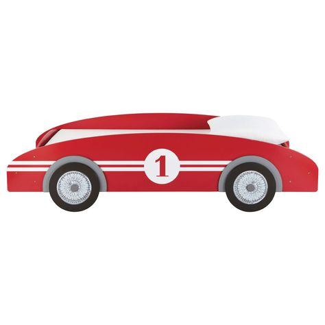 Letto a macchinina rosso in legno per bambini 90 x 190 cm Circuit