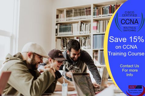Save 15% off on CCNA Training course. For a limited time only. Please Contact us for more information.