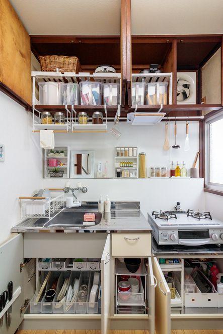 劇的ビフォーアフター 二度と散らからないキッチン 収納テク キッチン 収納 部屋 インテリア