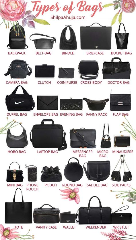 Types of Bags: A COMPLETE Guide to 40 Different Bags Styles