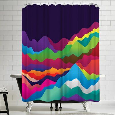 East Urban Home Joe Van Wetering Mountains Of Sand Single Shower Curtain East Urban Home Curtains Abstract Shower Curtain