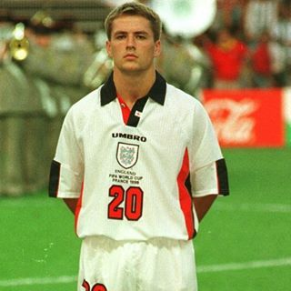 When His Shirt Number Was Greater Than His Age Owen Michaelowen France98 19 England Football Players England Football International Football