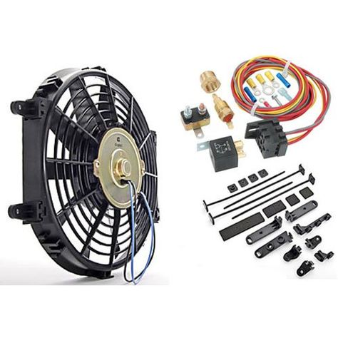 Jegs Universal Electric Fan With Wiring Harness And Relay Kit