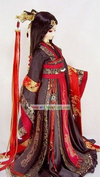Chinese Ancient Princess Bride Wedding Dress Hair Decoration And