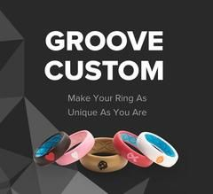 265e6b7028a7c Women's Silicone Wedding Ring   Aspire - Soar: Teal   Groove ...