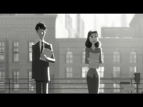 Paperman - Disney Short Film, Cute, Love, Disney