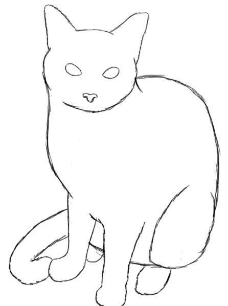 Wie Zeichnet Man Eine Katze Umrisszeichnungen Katze Zeichnen Katze Malen
