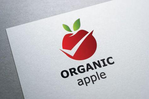 Organic Apple Logo , #affiliate, #Illustrator#CS#formats#Logo #affiliate