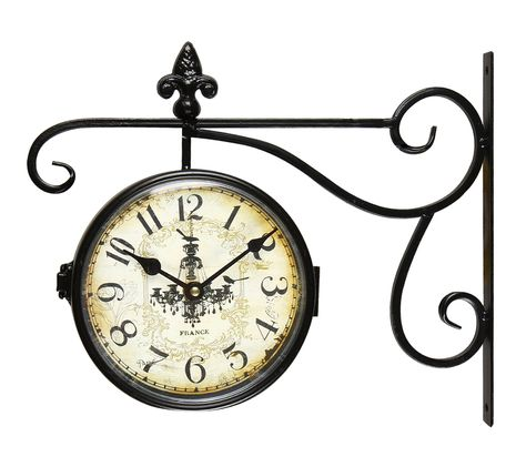 Vintage Inspired Round Wall Clock Hanging Clock Unique Wall Clocks Wall Clock