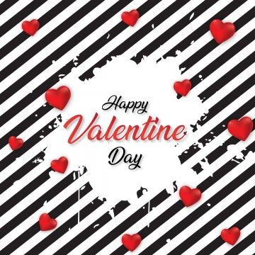 Happy Valentine Day With Hearts And Classic Background Classic