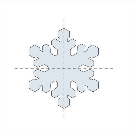 Snowflake template martha stewart awesome beautiful diy christmas.