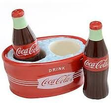 A Great Set of Coca Cola Bear #1 Salt /& Pepper Shakers