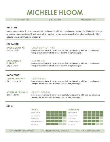 plantilla cv basico Denise Pinterest Curriculum - contemporary resume examples
