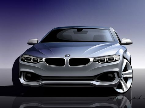 Bmw 4 Series Coupe Design Sketch Med Billeder