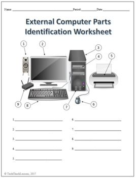 Image Result For Part Of Computer Worksheets Computer Computer