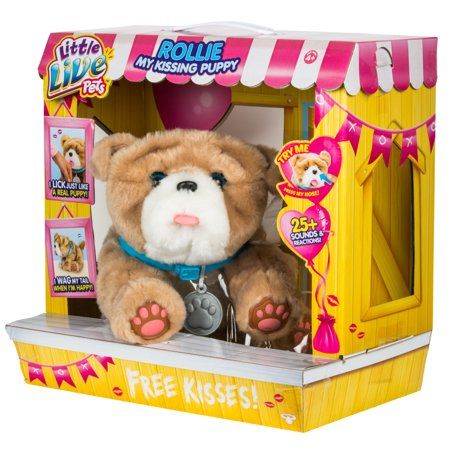 Little Live Pets My Kissing Puppy Rollie Image 3 Of 9 In 2020 Little Live Pets Baby Girl Toys Pets