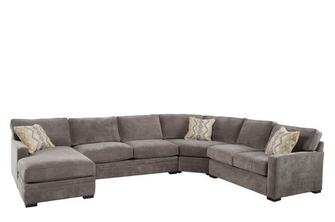 Nebraska Furniture Mart u2013 Jonathan Louis Contemporary Gray Microfiber Sectional with Right Arm Facing Chaise | For the Home | Pinterest | Nebraska furniture ...  sc 1 st  Pinterest : jonathan louis artemis sectional - Sectionals, Sofas & Couches