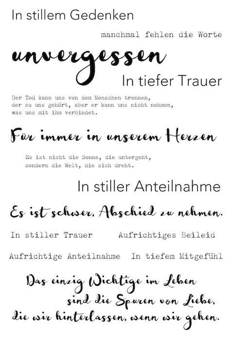 """Trauer Klartext Stempelset """"unvergessen"""" von www.danipeuss.de"""