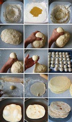 how to : easy flour tortillas.