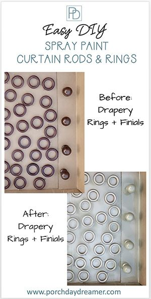 Spray Paint Curtain Rods For A Whole New Look Painted Curtains