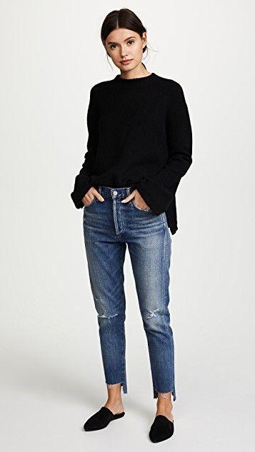 Encontre este Pin e muitos outros na pasta Liya High Rise Classic Fit Jeans - - Jeans kombinieren // Outfit-Ideen mit Jeans - Roupas
