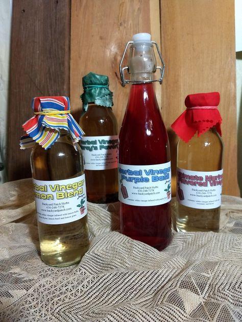 Herbal Vinegar Gourmet Lemon Blend, lemon balm, lemon thyme, lemon basil, lemon grass and lemon verbena