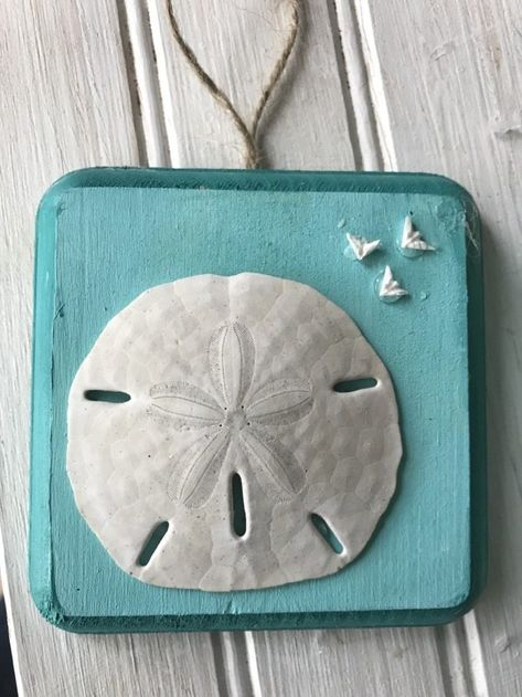 ANNA MARIE ISLAND Sand Dollar Made with Sand Tropical Beach Ornament